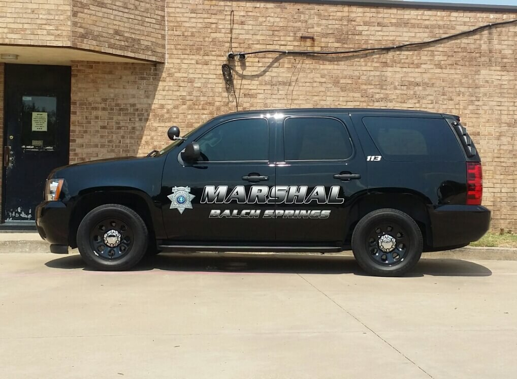 Balch Springs Warrants in Balch Springs Municipal Court Marshal's Car Client Incubator 75180 and 75181