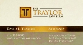 Dallas Traffic Tickets Business Card